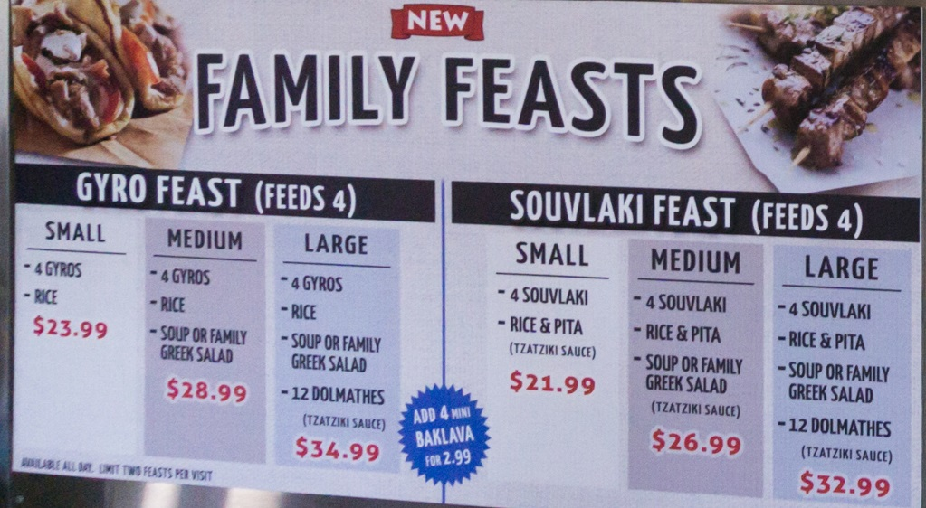 greek souvlaki downtown menu three