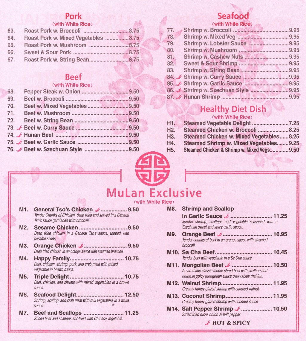 mulan menu page two